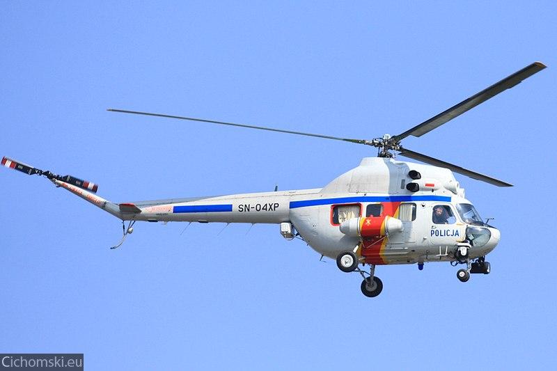 Helikopter Policji przygotowany na mecz Chemika z Zagłebiem